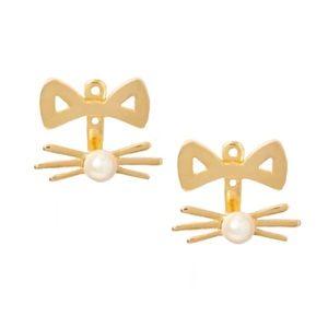 KATE SPADE • Out West Cat Ear Jackets Earrings